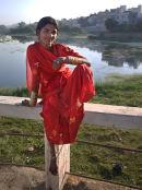 girl by Udaipur lake