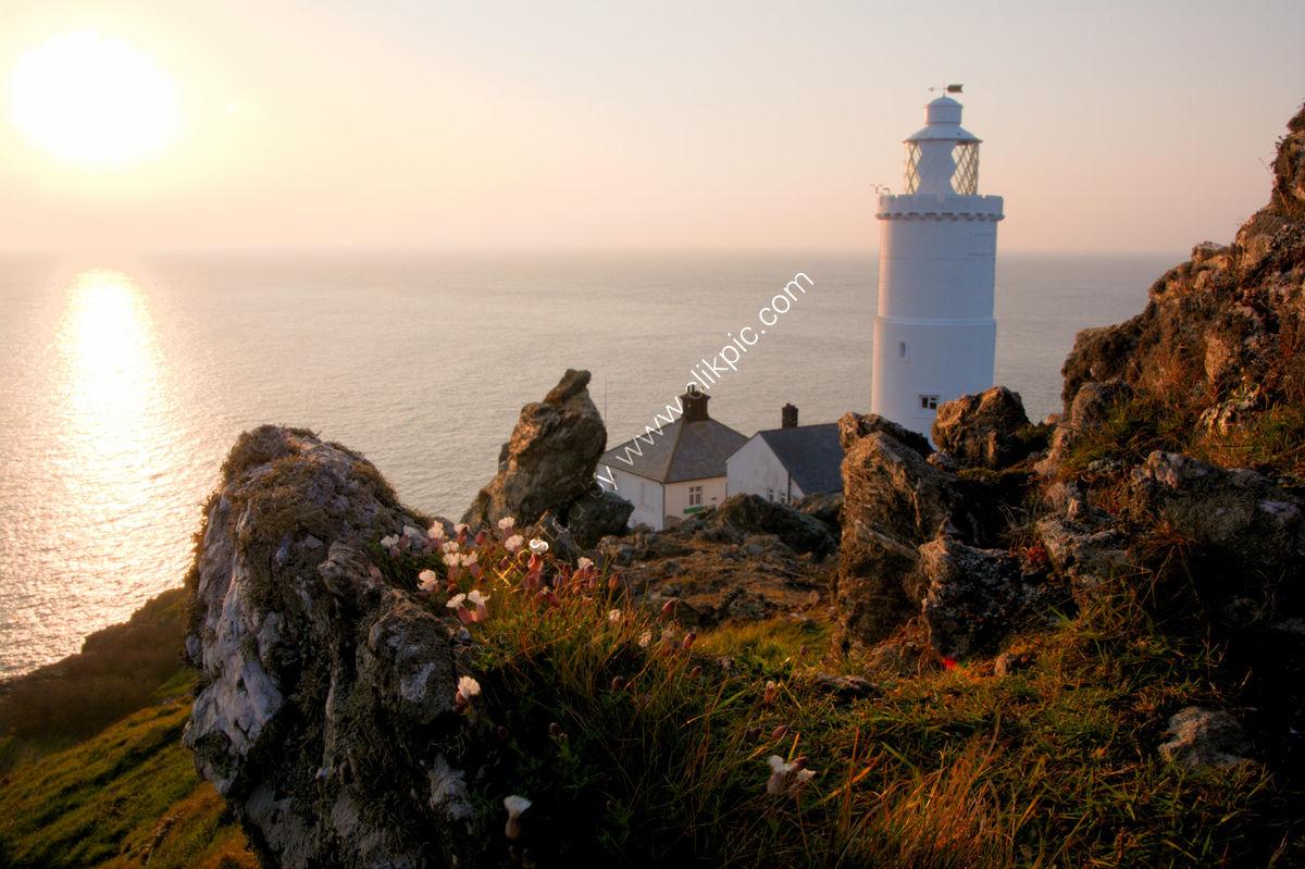 Sunrise at Start Point lighthouse, Devon, United Kingdom