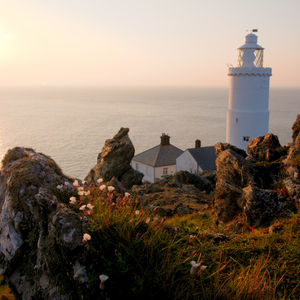 Sunrise at Start Point lighthouse, Devon, United Kingdom