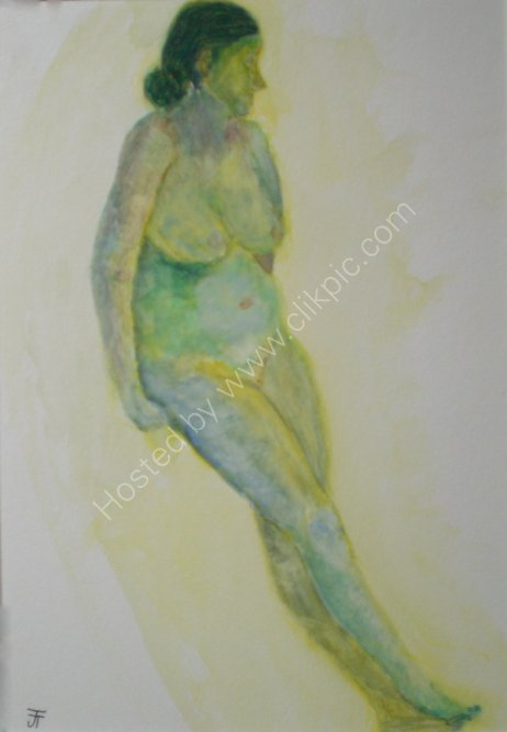 Female Nude in Green.