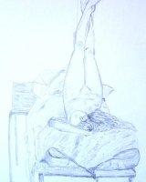 Female Nude in Pencil.