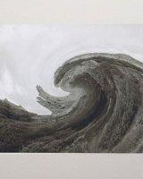 Scarborough Castle Meets Hokusai's Wave.