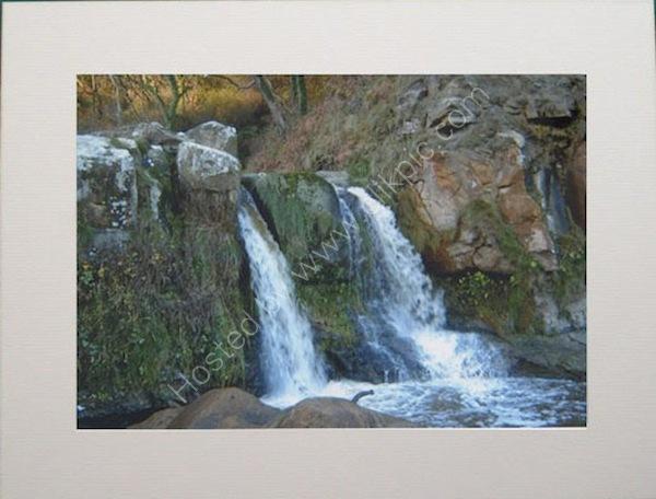 Waterfall at Hayburn Wyke near Scarborough.