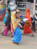 Woman and Child. Street Scene