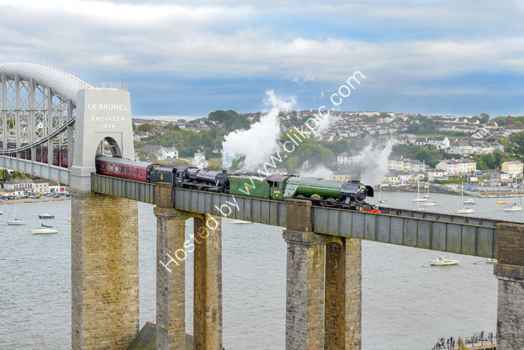 The Flying Scotsman and the Black Five, crossing the I.K. Brunel Bridge at Saltash, 6th October 2018
