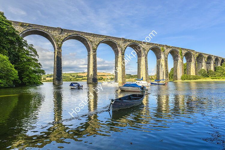 The viaduct at St Germans, straddling the River Tiddy.