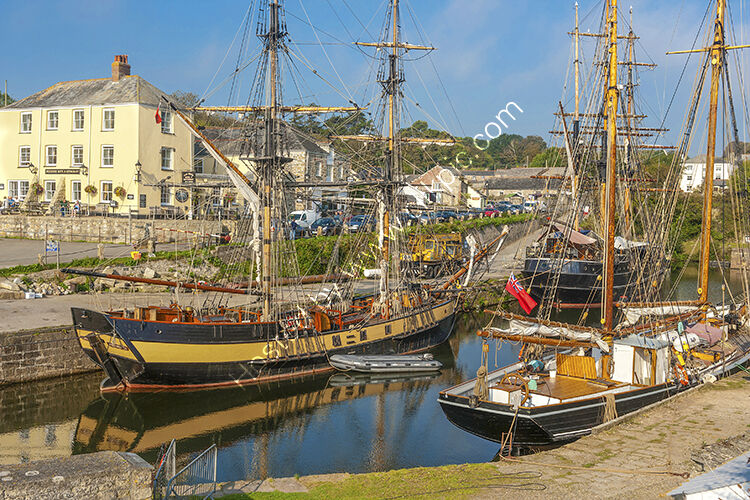 The harbour, at Charlestown near St Austell.