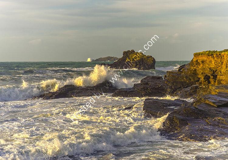 Gulland Rock, from Newtrain Bay.