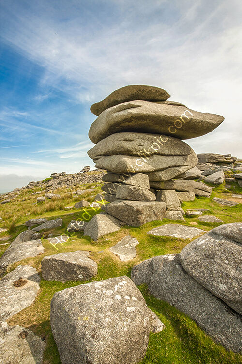 The Cheeswring, standing on Stowes Hill near Minions on Bodmin Moor.