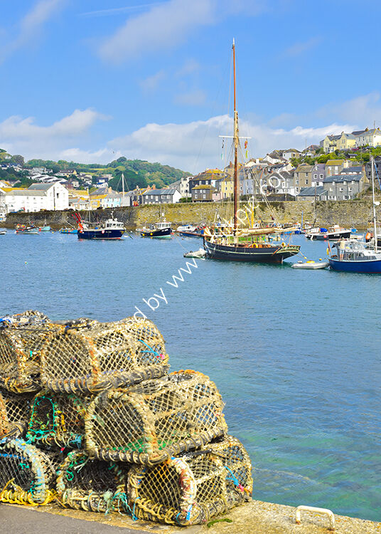 The Outer harbour at Mevagissey.