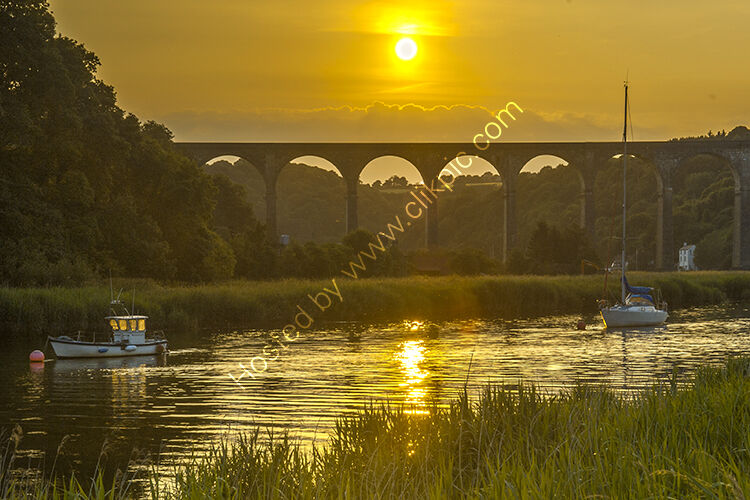 The 120ft high viaduct at calstock, crossing the River Tamar.