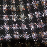 Black & Beige Sparkly Scarf