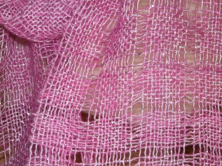 Pink Sparkly Scarf