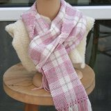 Pink & White Soft Scarf