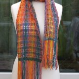 Multicoloured Open Weave Scarf
