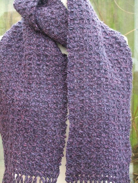 Purple Wool Scarf