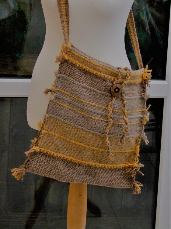 Beige & Gold Chunky Bag