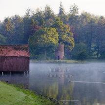 Misty morning Dalswinton Loch
