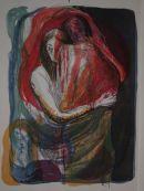 embracing couple 2 Lithograph 76x56cm