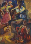 Rajasthani nightOil on canvas117cmx79cm