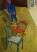 Man on a chair Oil on Canvas 106x77cm