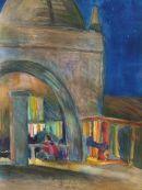 night market Watercolour 52cmx42cm