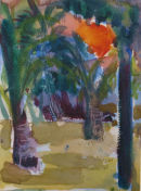 Sunset through Palms  20x15cm  2011