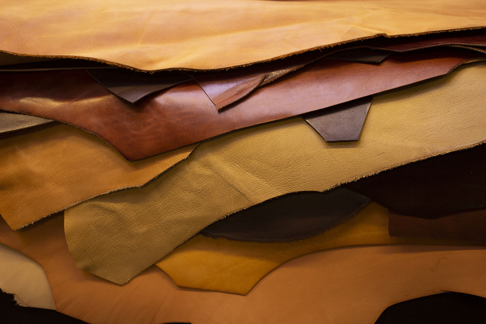 Various leather skins