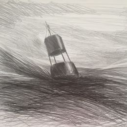 'Buoy' Graphite on Paper. 2017 60 x 45cms