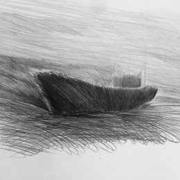 'Hull' Graphite on Paper 2017 60 x 45cms