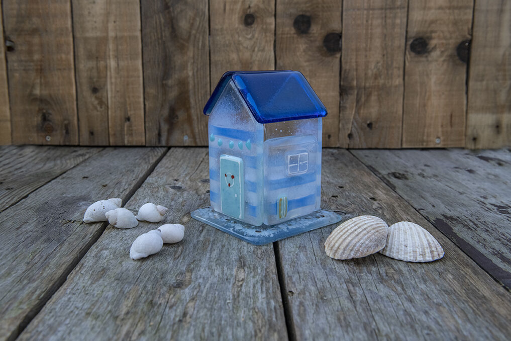 Beach Hut Tea Light Holder