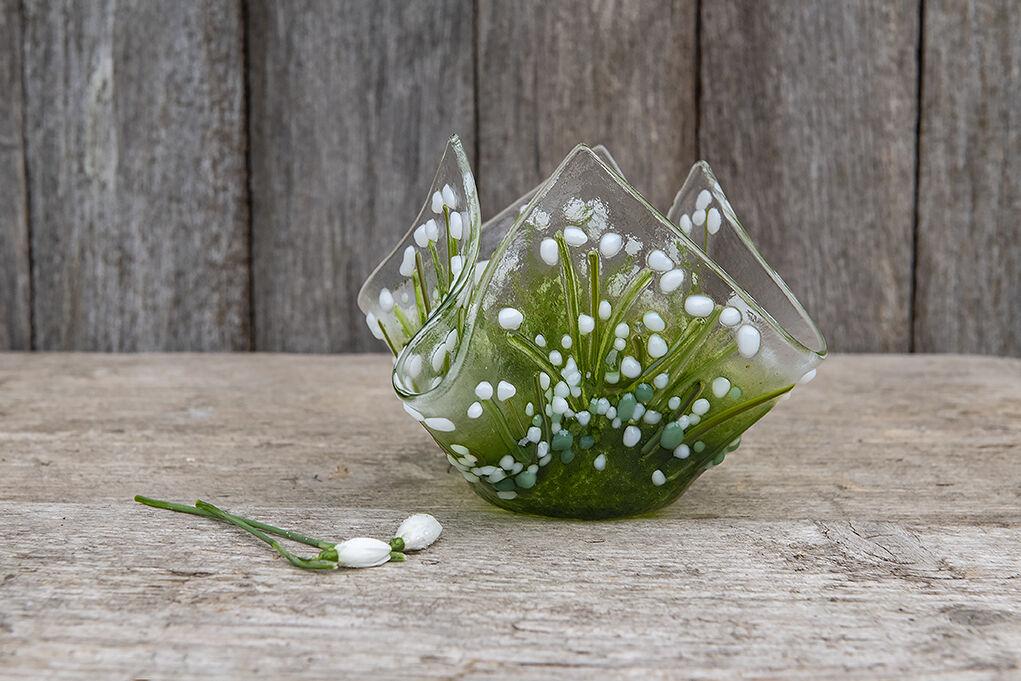 Snowdrop Tea light vase