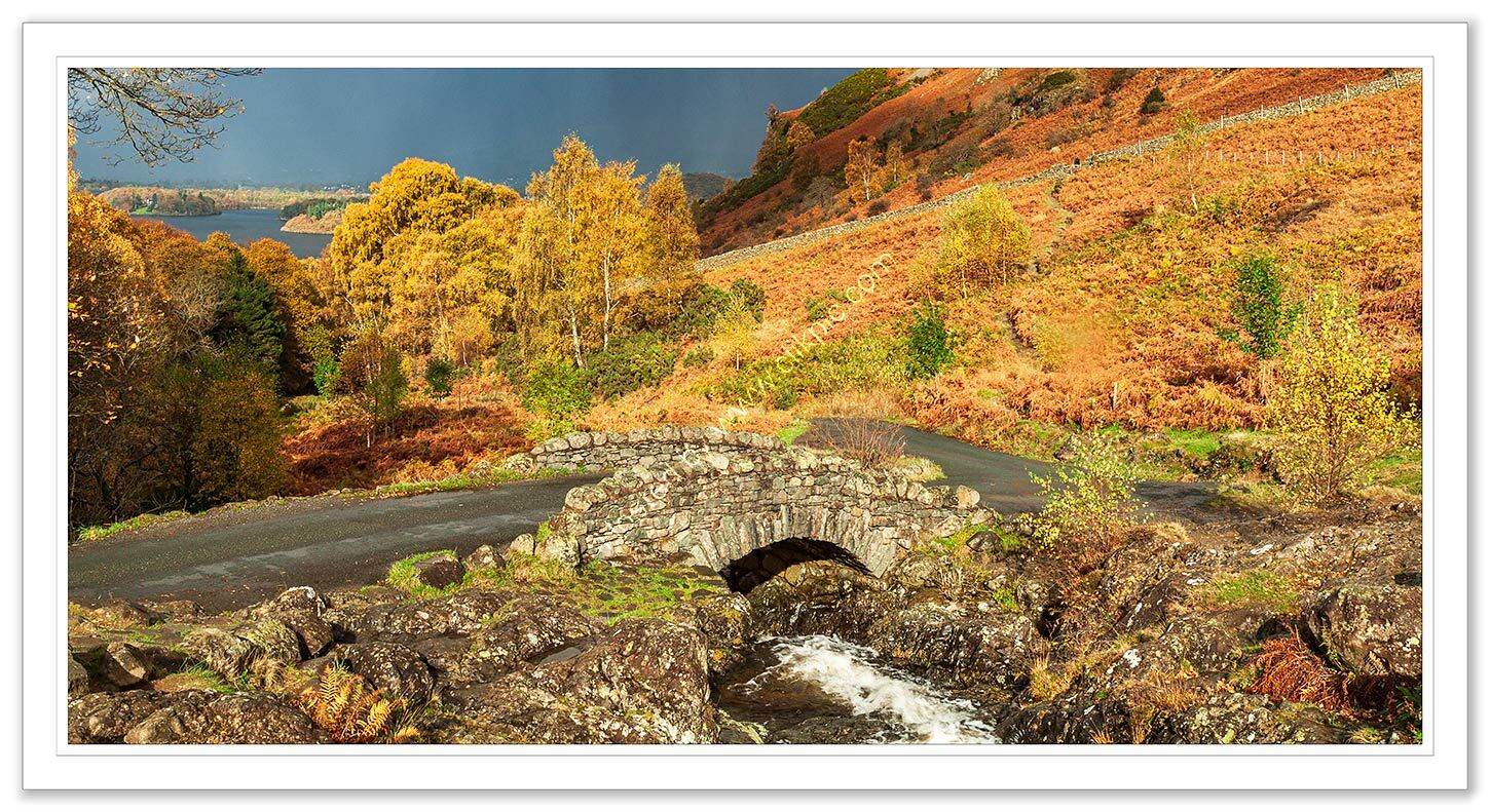 Ashness Bridge in Autumn