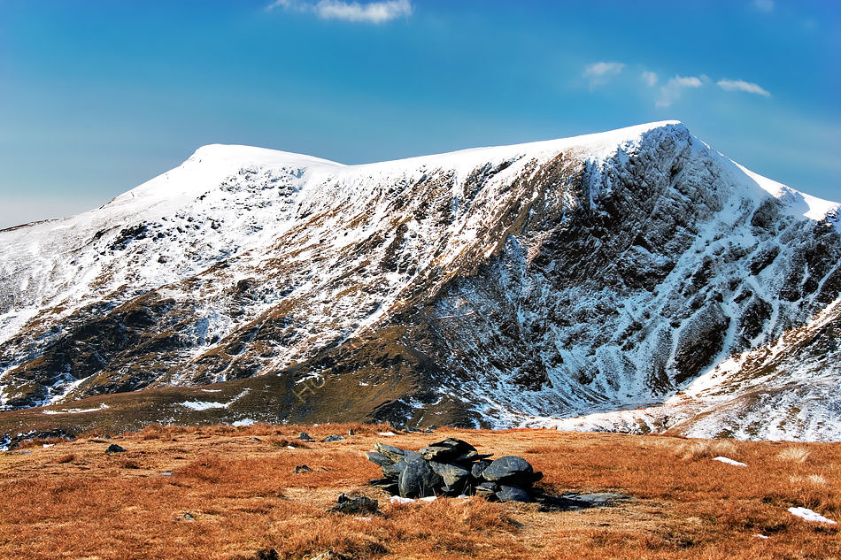 Blencathra Summits from Bannerdale Crags.
