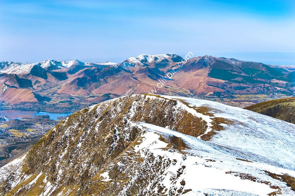 The Derwent Fells from Blencathra eastern summit