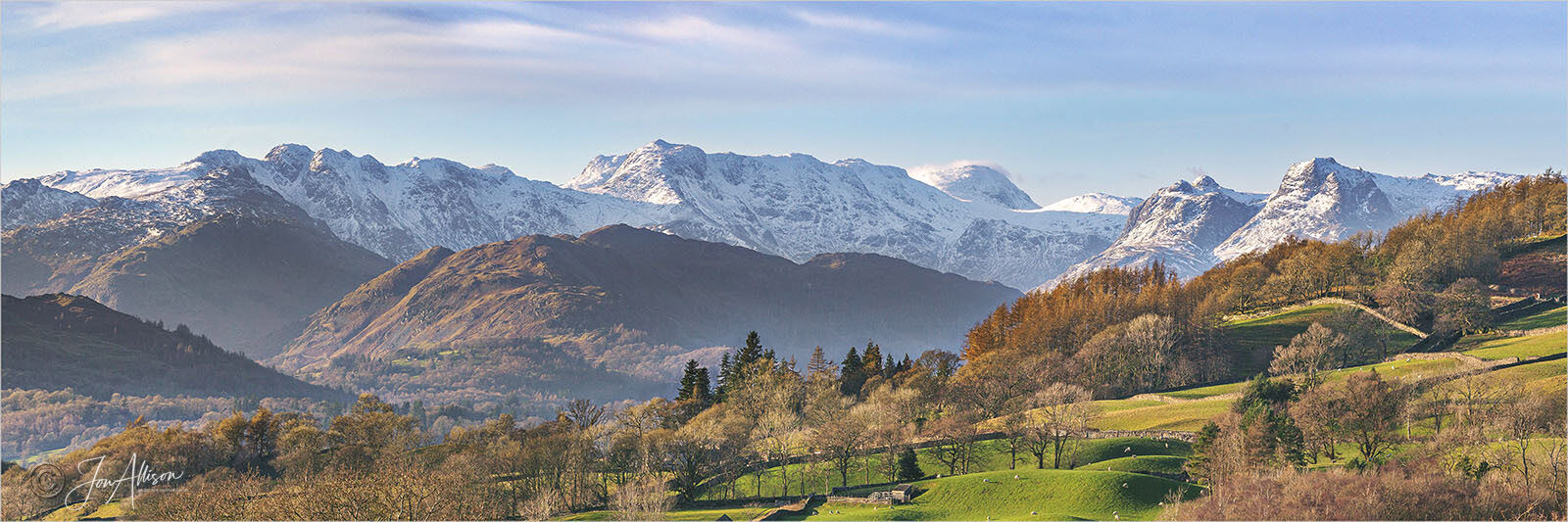 Crinkle Crags & Bowfell from Troutbeck