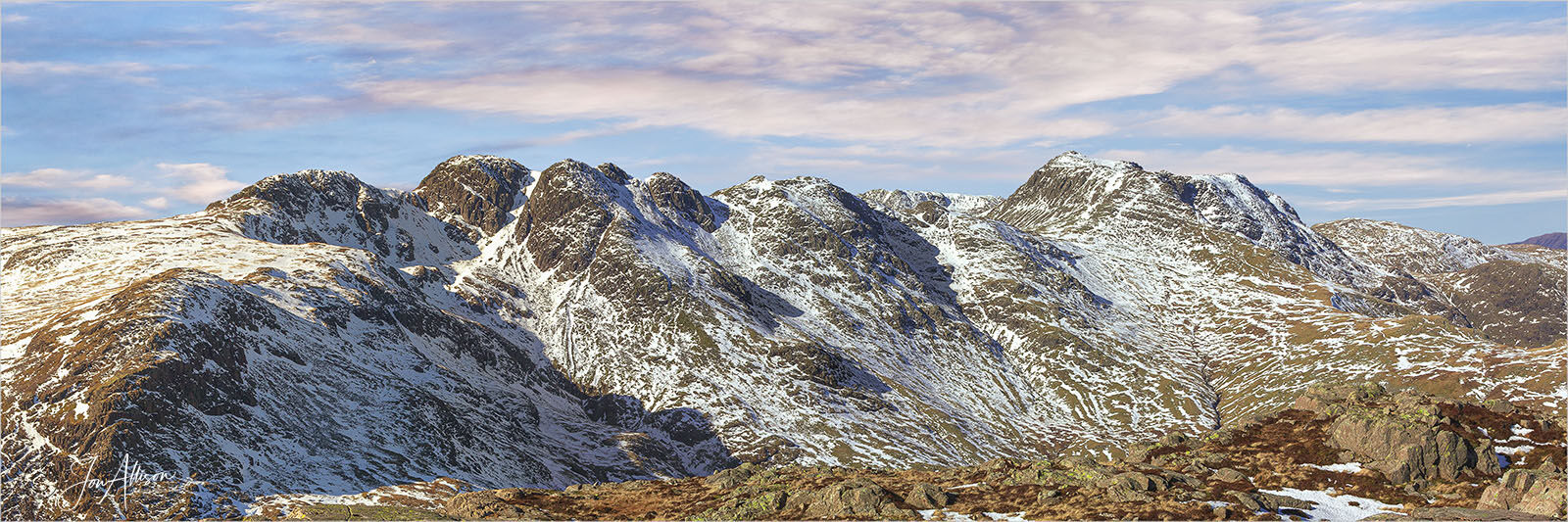 Crinkle Crags in Winter