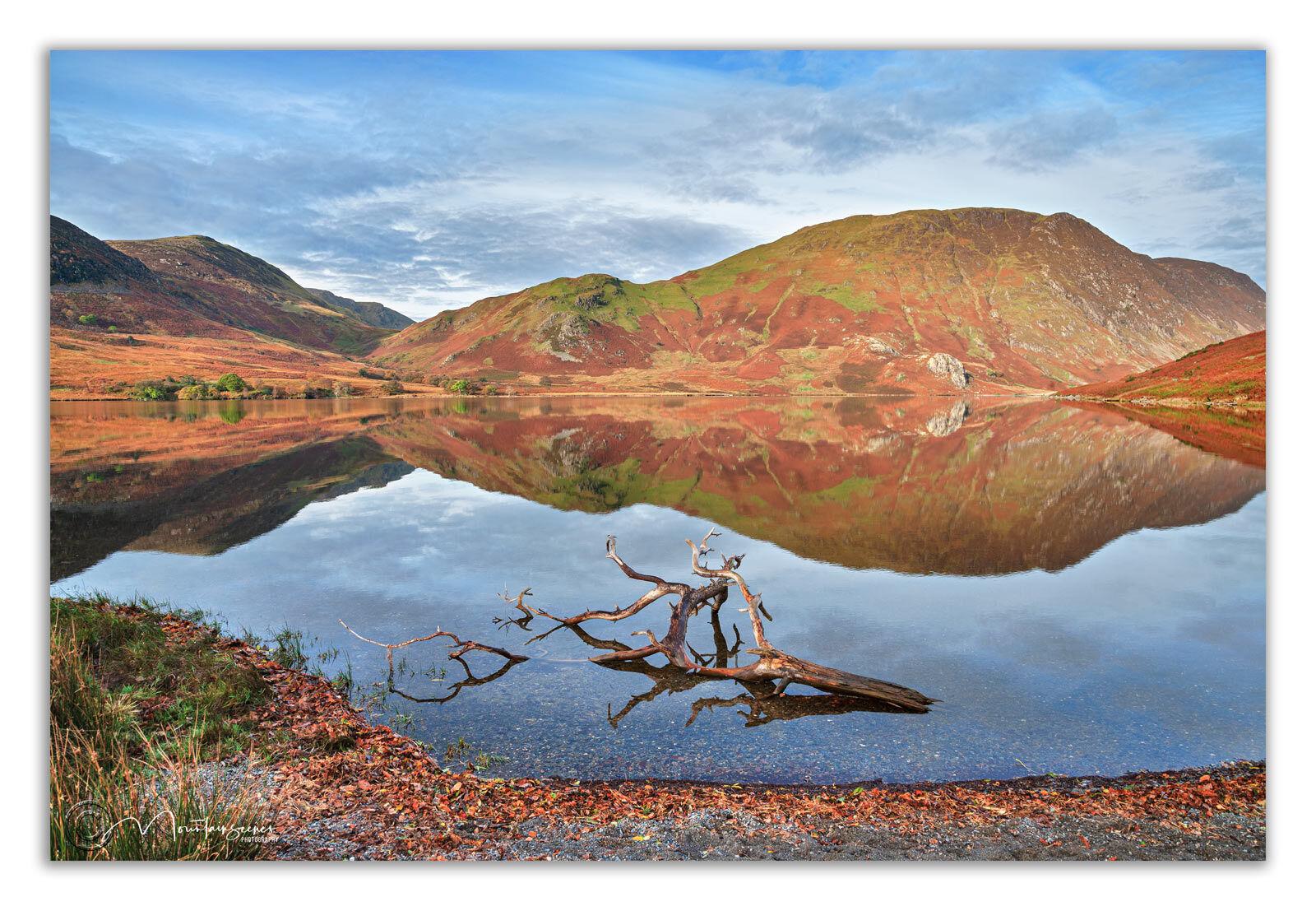 Crummock Water & Mellbreak reflections