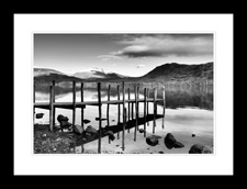 Derwentwater Jetty at Dusk framed edition