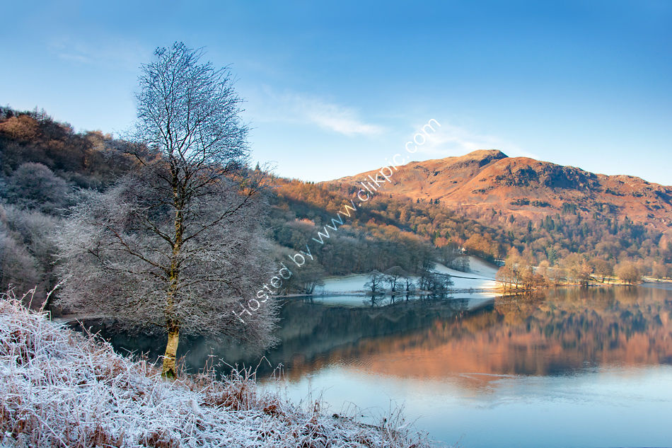 Silver Howe over a frosty Grasmere