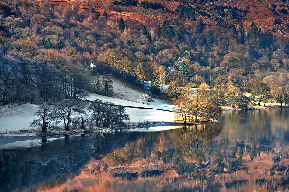 Colourful reflections on a frosty Grasmere