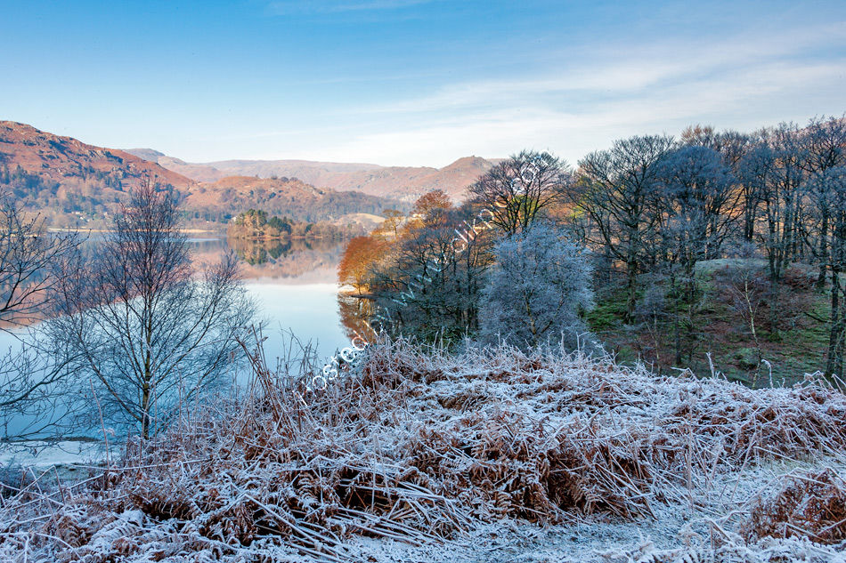 Early morning at Grasmere in winter