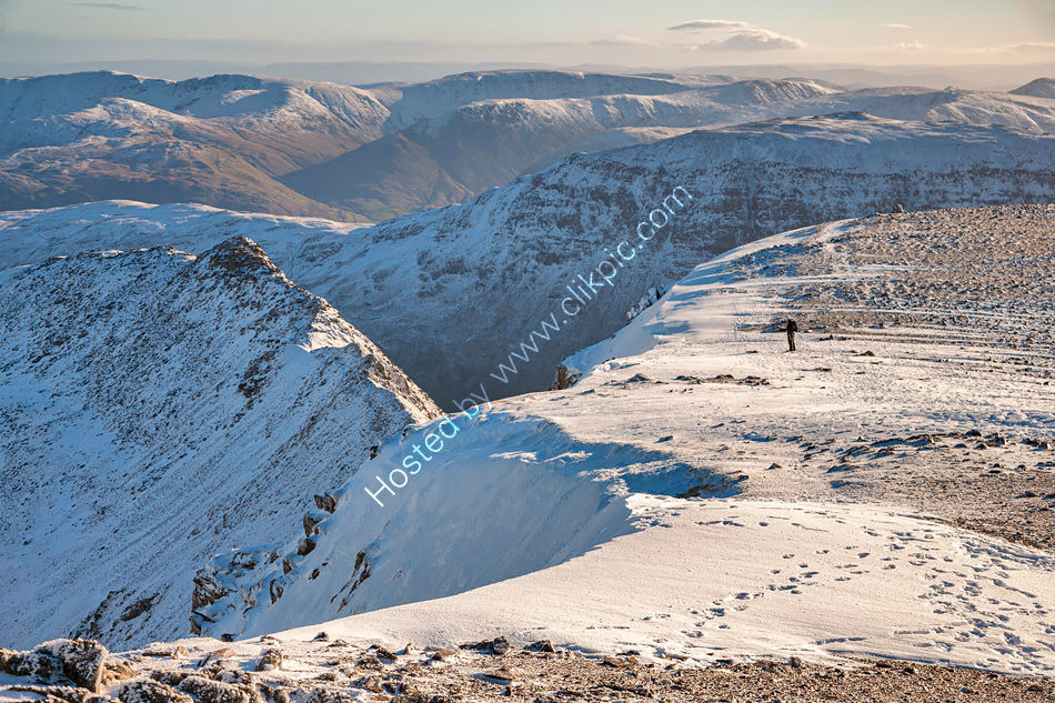 On the Helvellyn summit ridge
