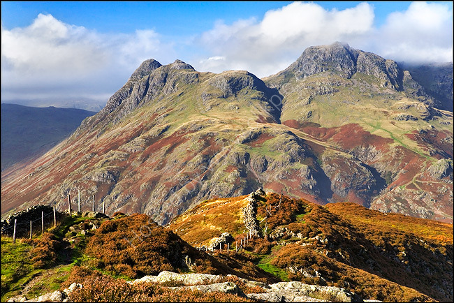 Lingmoor Fell and Langdale Pikes