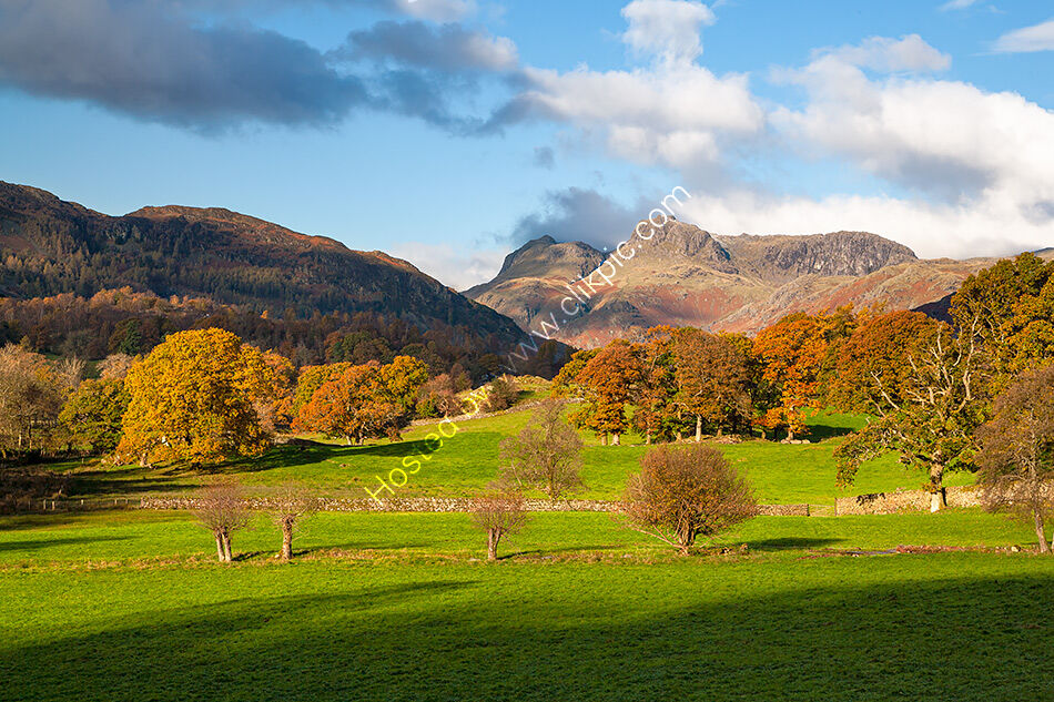 Langdale Pikes from Clappersgate