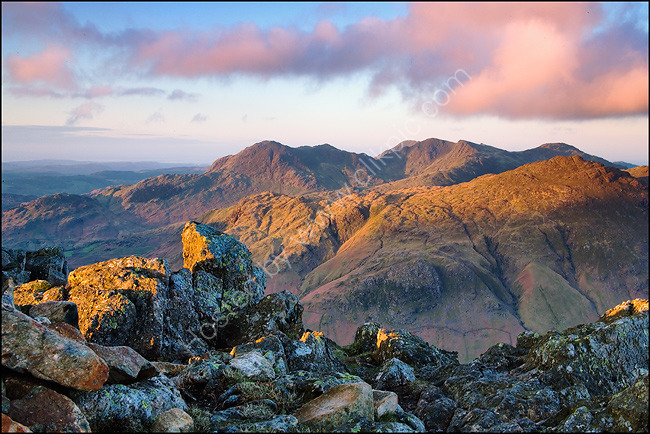 Wetherlam & Coniston Fells From Langdale Pikes