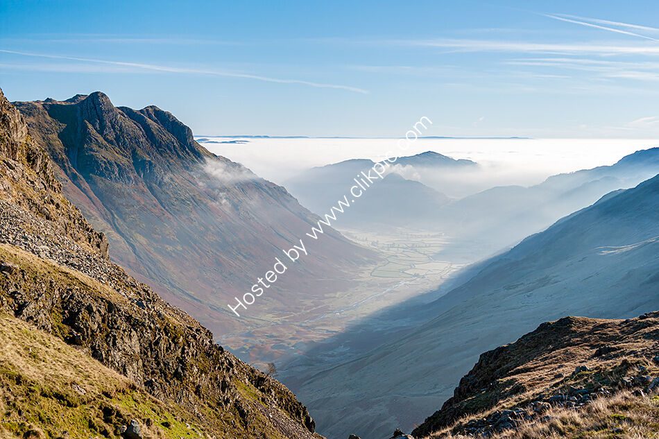 Langdale Valley from Crinkle Crags
