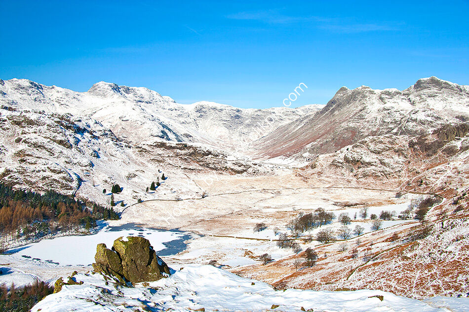Across Little Langdale in winter
