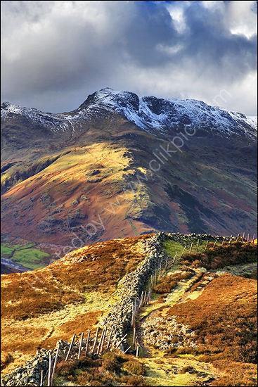 Bowfell from Lingmoor.