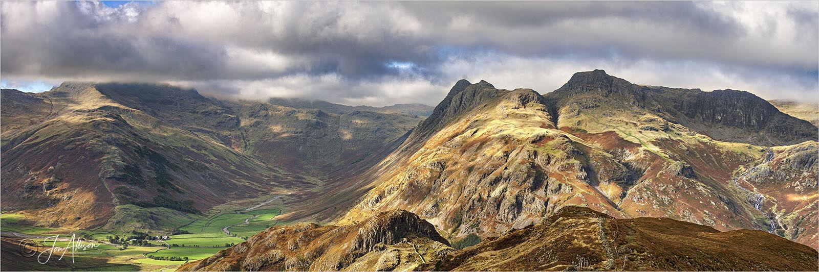 Langdale from Lingmoor Fell Summit